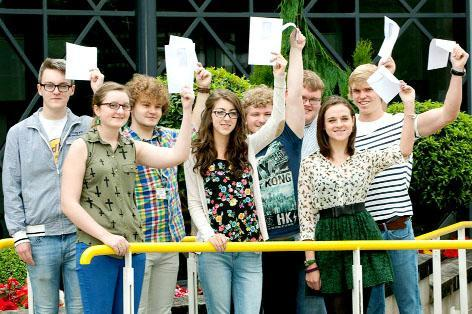 a-LEVELS: Students from the Chorley area collect their results