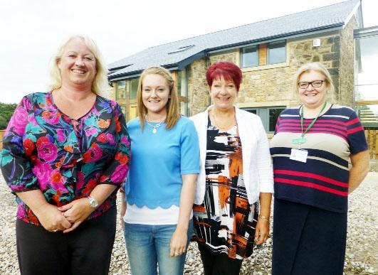 From left Joanne Copeland, Issy Hayes, Lorimer Russell-Hayes and Nicola Hanmer at The Mill