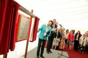 The Princess Royal unveils the plaque at the Lucas Green development