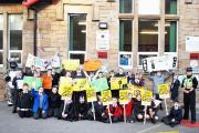 Pupils at Whittle-le-Woods Primary protest in a bid to get a 20mph zone outside their school