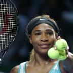 Chorley Citizen: Serena Williams must wait to see whether she reaches the semi-finals of the WTA Finals in Singapore (AP)