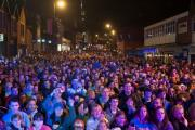 The crowd at last year's Christmas lights switch on event in Chorley town centre