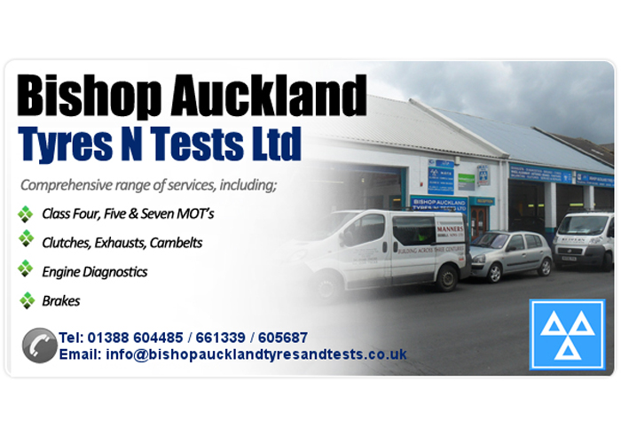 BISHOP AUCKLAND TYRES & TESTS