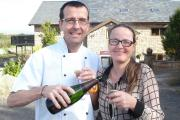 Simeon and wife Sharon, who is restaurant manager, celebrate being No.1 on TripAdvisor website