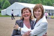 SPEAKING TIME: Fiona Bruce, right, will the the guest of honour