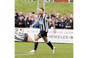 CELEBRATION: Andy Teague opened the scoring for Chorley against Guiseley, but the joy turned to despair and play-off final defeat