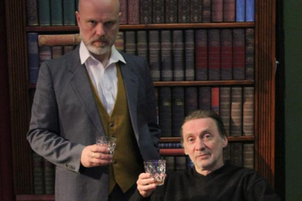 Dave Reid plays Sherlock and Ashley Hambrook as Professor Moriarty