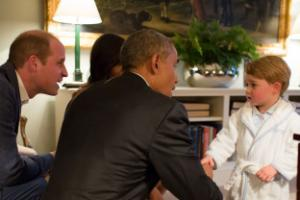 Barack Obama jokes that Prince George's pyjamas greeting was 'slap in the face'