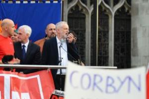 Jeremy Corbyn appeals for unity at central London rally