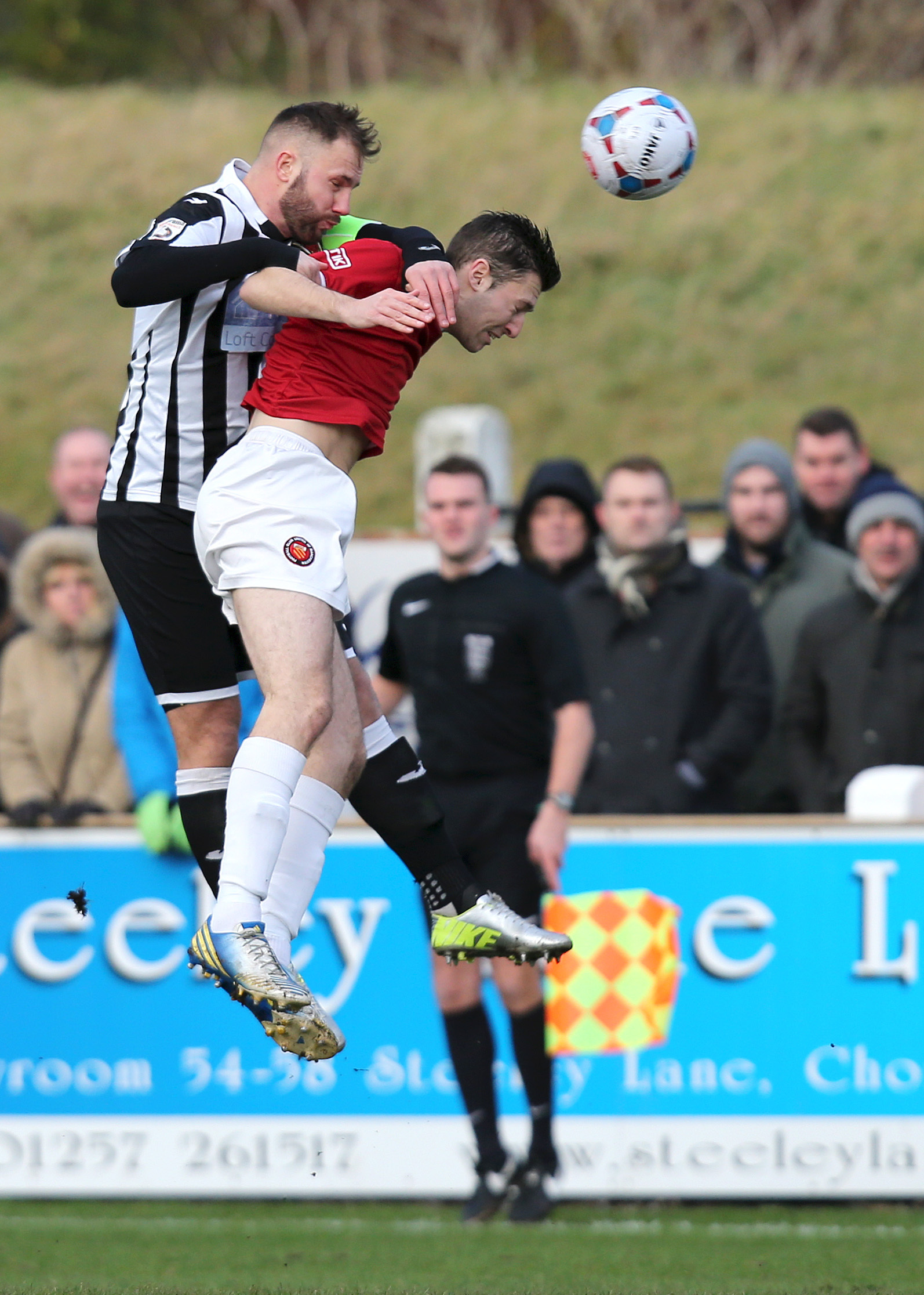 Chorley's Andy Teague in action against FC United last season