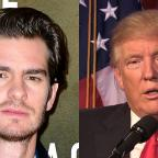 Chorley Citizen: Donald Trump needs a kiss to calm down, actor Andrew Garfield says