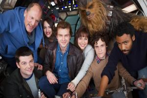 Han Solo movie cast together as filming of Star Wars spin-off begins