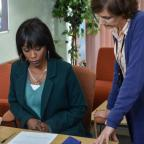 Chorley Citizen: EastEnders snaps show Denise hovering over adoption forms