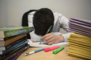 STRESSED: Nearly half of young teachers say mental health concerns could force them to leave the profession. Picture: PA Wire.
