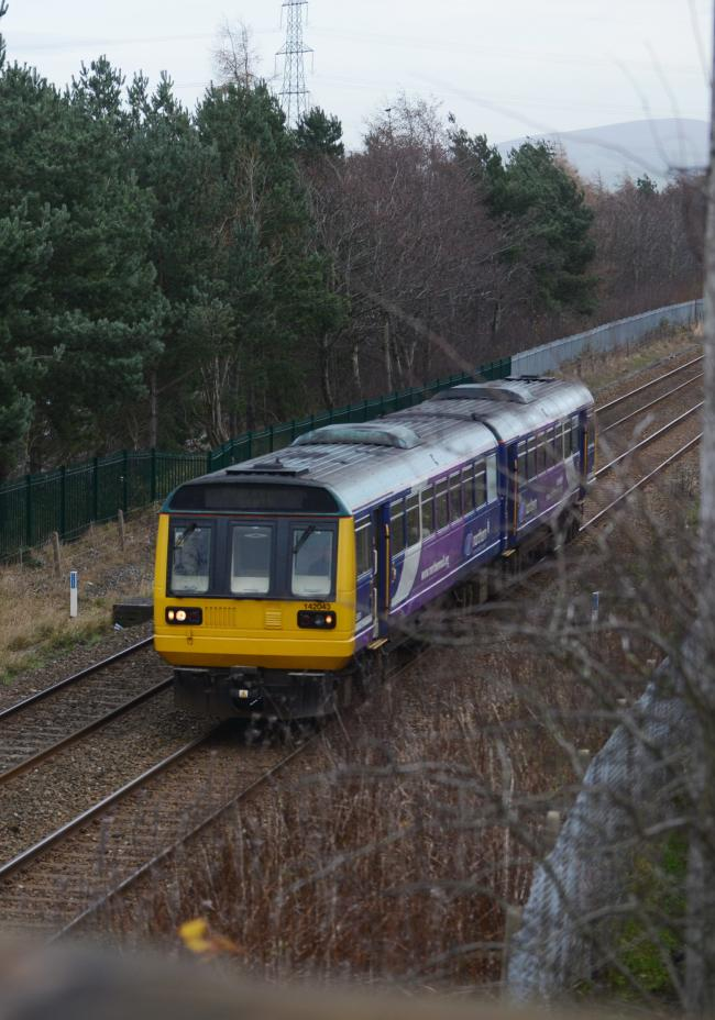 Northern Rail Train at Hapton Station..