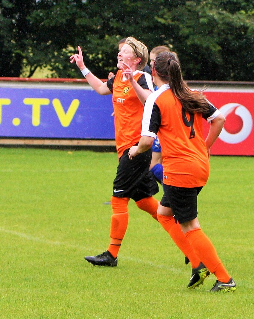 Laura Walker was on target for Chorley. Pic by Keith Bowes