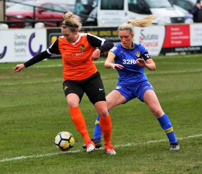 Scarlett Smith in action for Chorley Ladies
