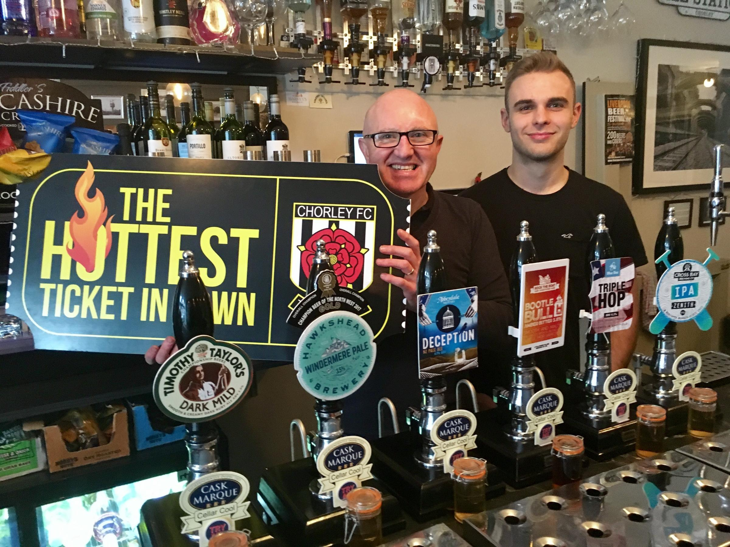 Mick Barker from The Ale Station - one of numerous businesses who've purchased a ticket