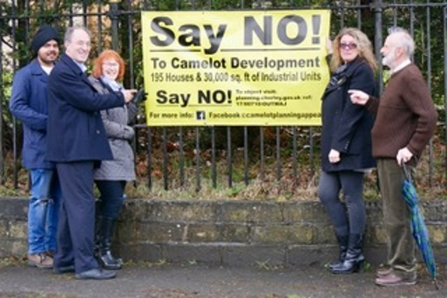 Campaigners against the plans for the Camelot theme park site