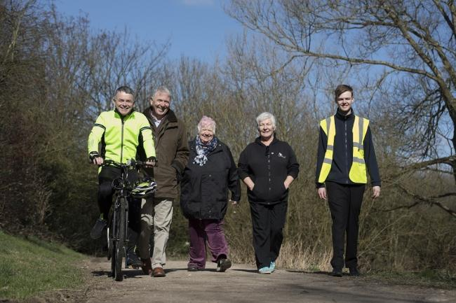Councillors Matthew Tomlinson, Phil Smith, Jane Bell,  Sue Jones and council assistant project engineer, Nathan McCracken