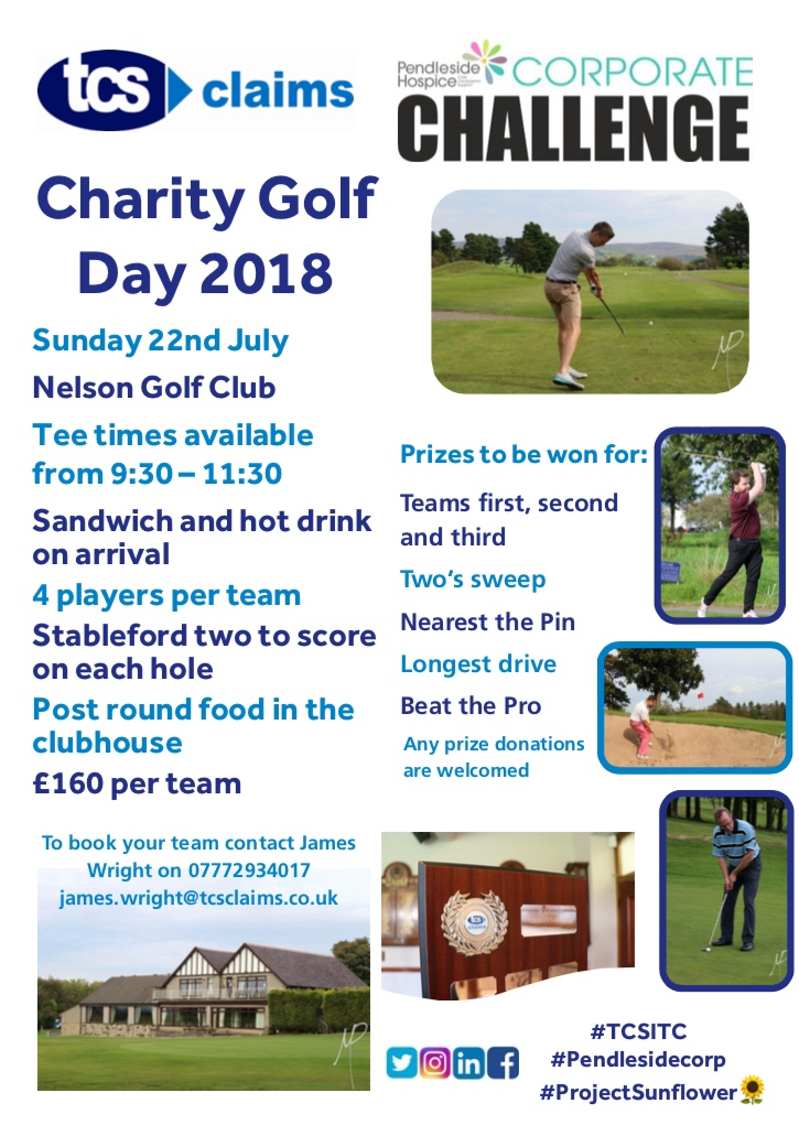 Charity Golf Day for Pendleside Hospice