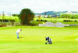 Chorley Citizen: ACE! A golfer tries out the new course at Withnell