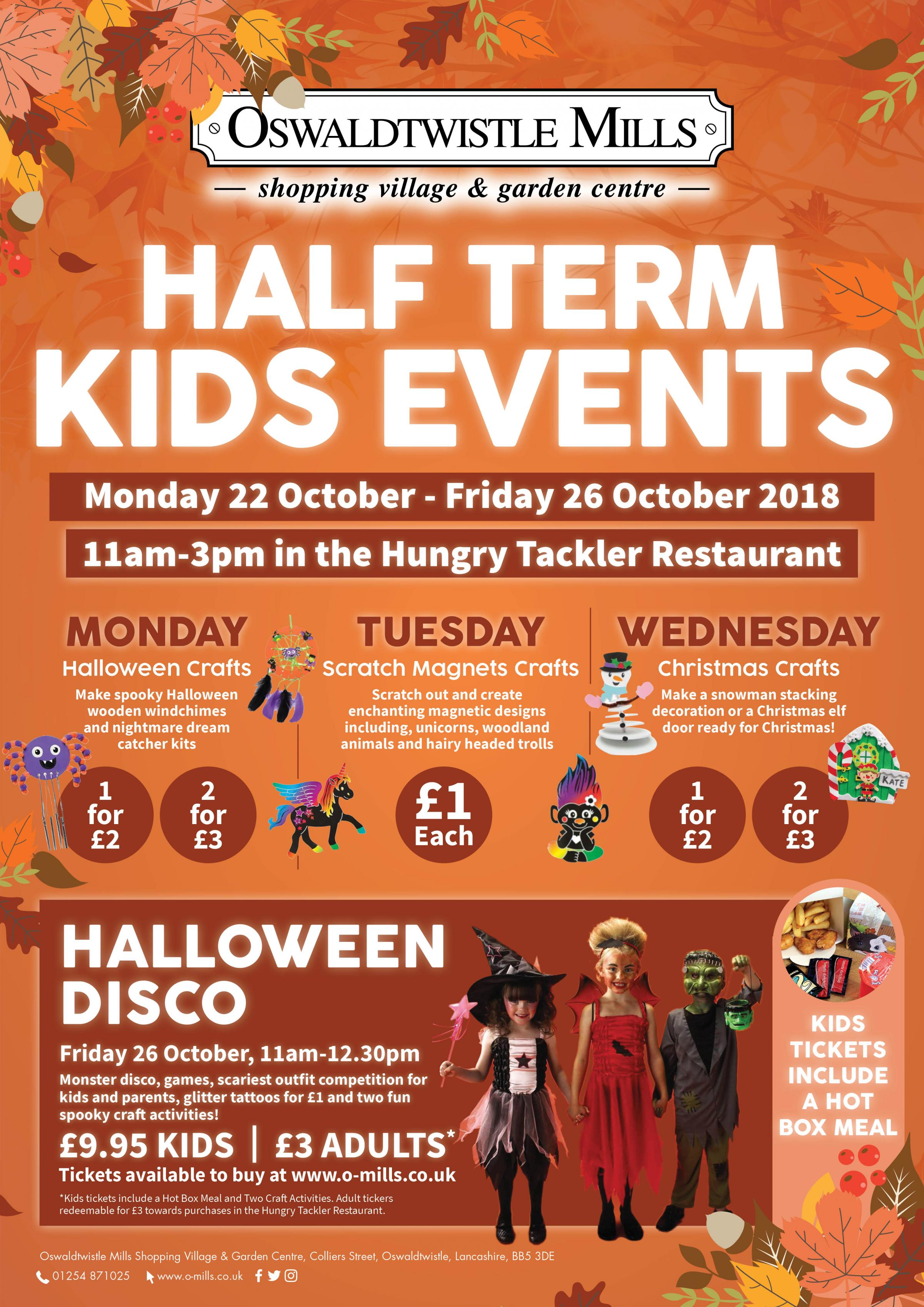 October Half Term at Oswaldtwistle Mills