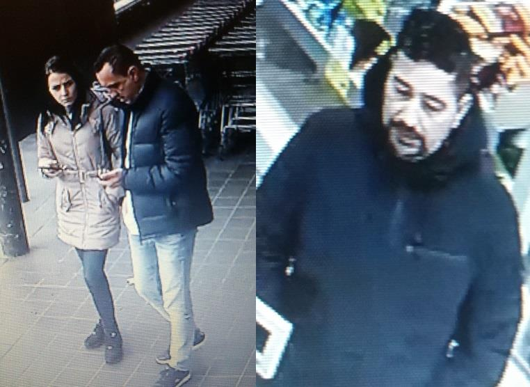 Police are appealing to find these people after a pensioner's card was stolen