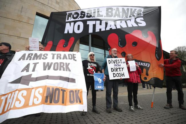 RBS anti-fossil fuel protest