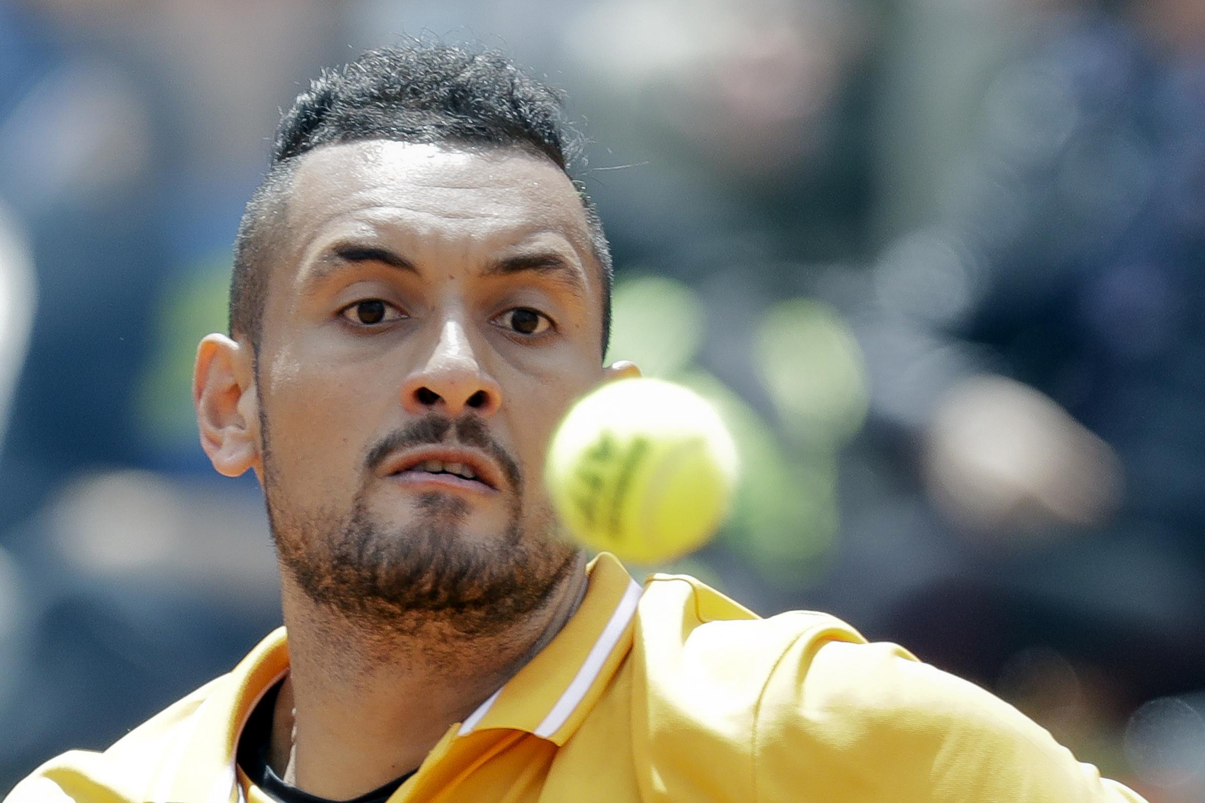 Nick Kyrgios lost his cool spectacularly in Rome