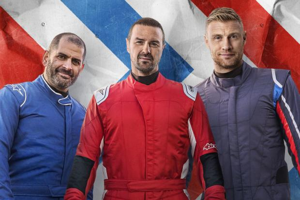 Undated BBC Handout Photo from Top Gear – Series 27. Pictured: (L-R) Chris Harris, Paddy McGuinness and Andrew Flintoff. See PA Feature SHOWBIZ TV Top Gear. Picture credit should read: PA Photo/BBC Studios/Lee Brimble. WARNING: This picture must onl